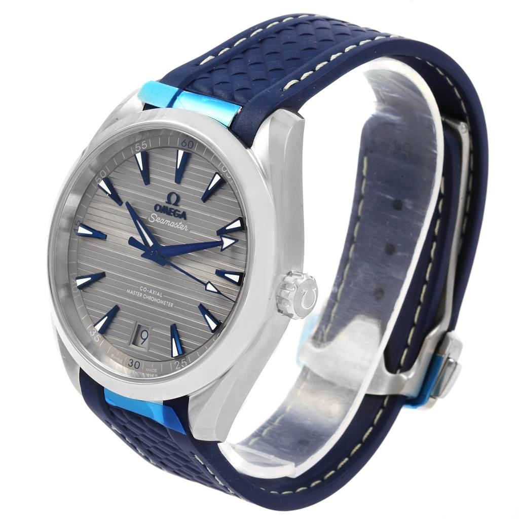 21214 Omega Seamaster Aqua Terra Grey Dial Watch 220.12.41.21.06.001 Unworn SwissWatchExpo