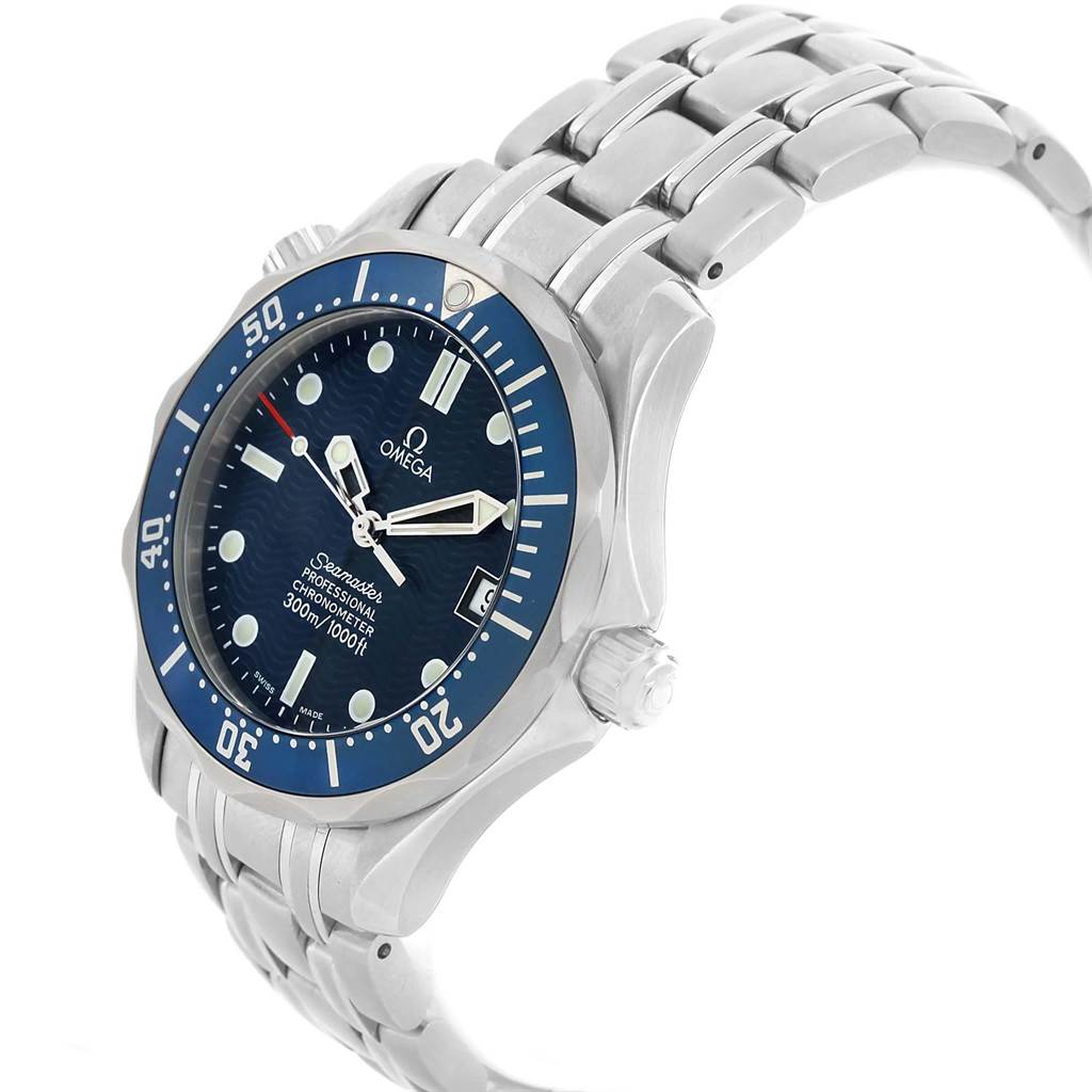 19290 Omega Seamaster Midsize 36 Blue Dial Steel Mens Watch 2551.80.00 SwissWatchExpo