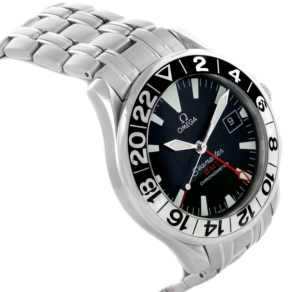 21323 Omega Seamaster GMT 50th Anniversary Mens Watch 2534.50.00 Card SwissWatchExpo