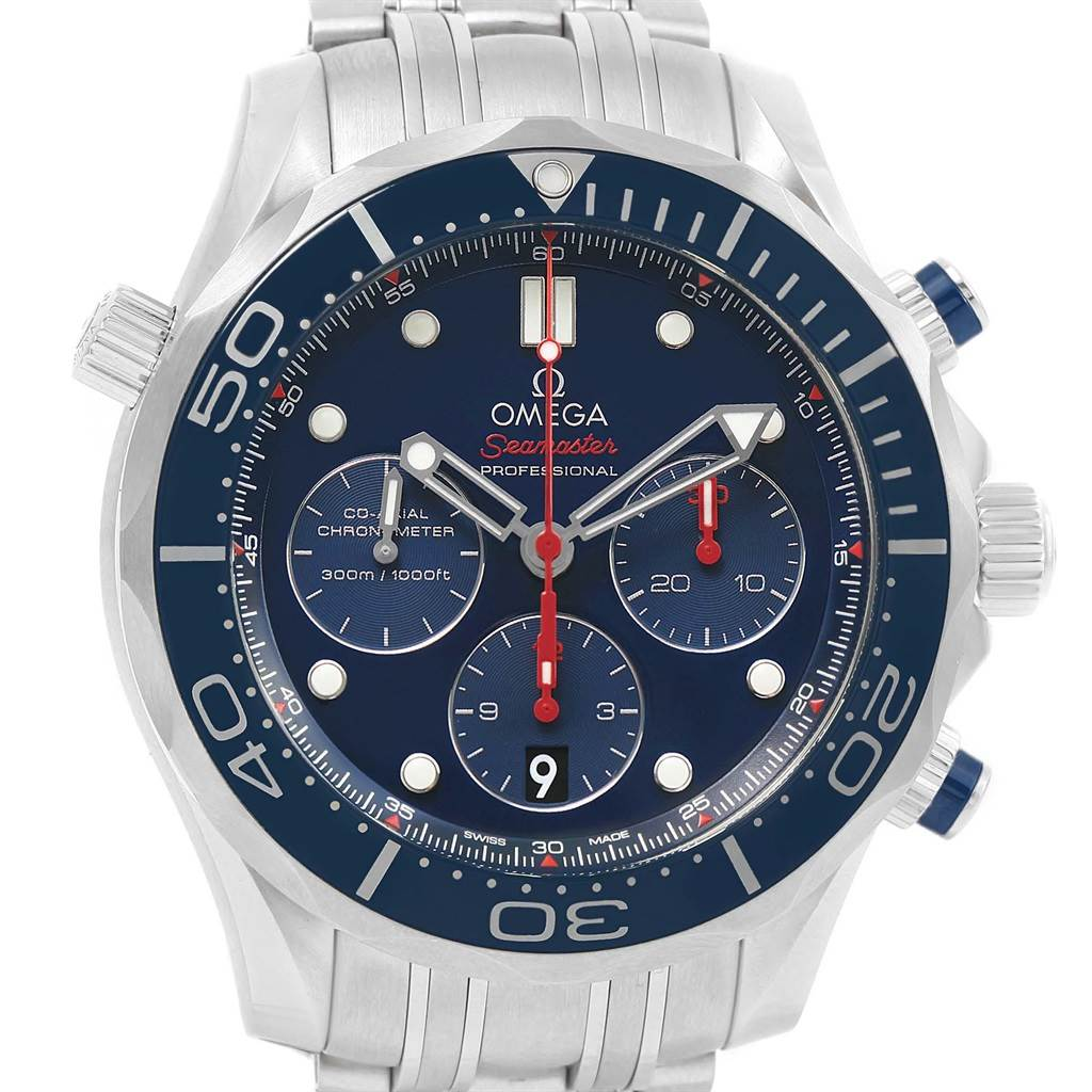 21077 Omega Seamaster Diver 300M 44mm Watch 212.30.44.50.03.001 Box Card SwissWatchExpo