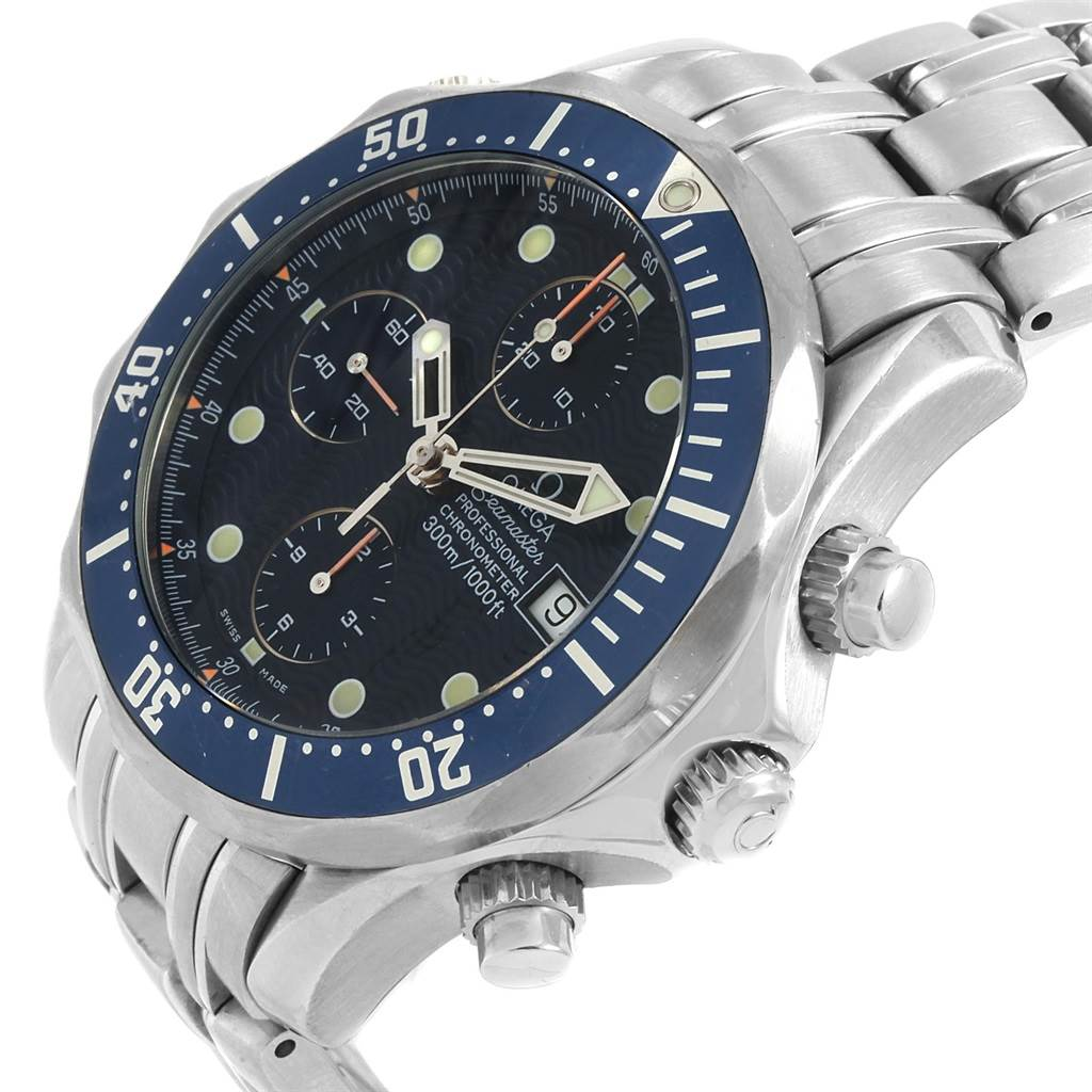 14970 Omega Seamaster Bond Chronograph Steell Mens Watch 2599.80.00 SwissWatchExpo