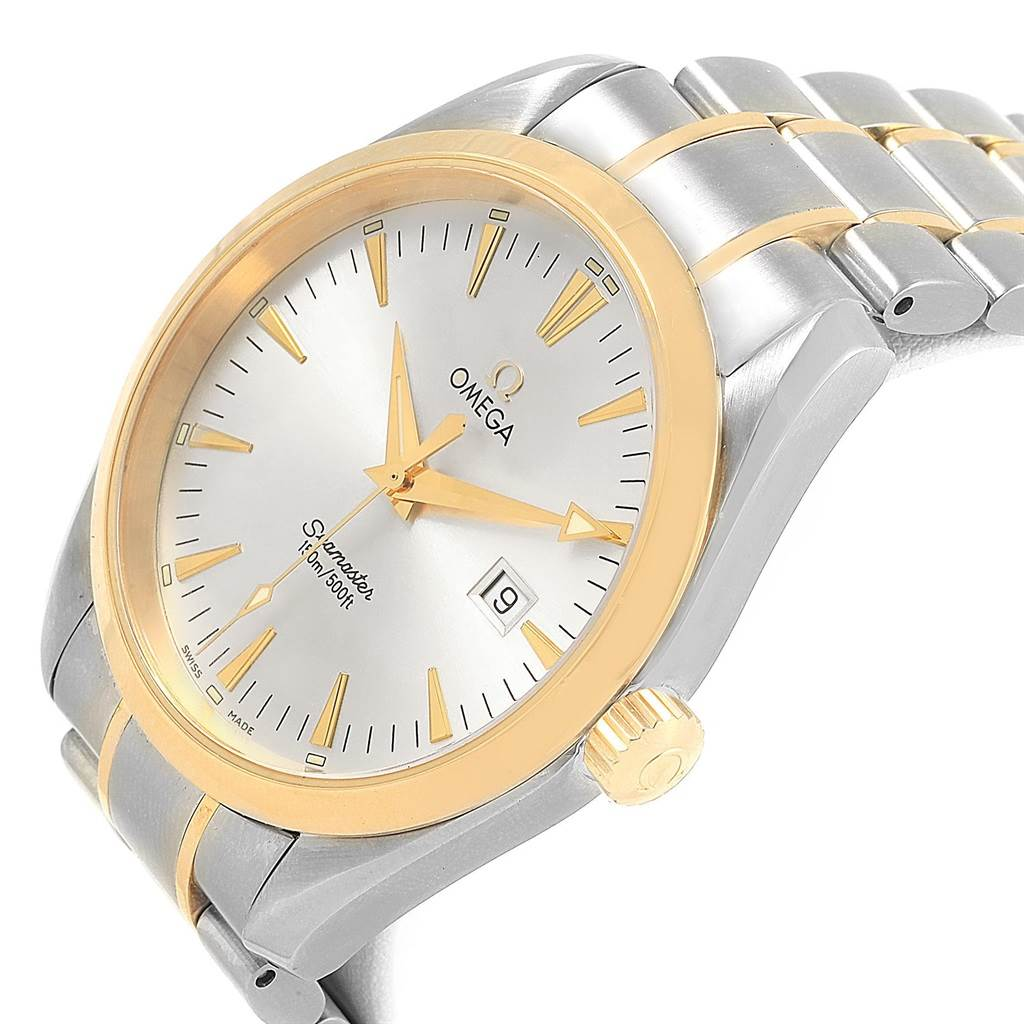 830d37a0a3bf ... 21301 Omega Seamaster Aqua Terra 150M Steel Yellow Gold Watch 2317.30.00  SwissWatchExpo ...