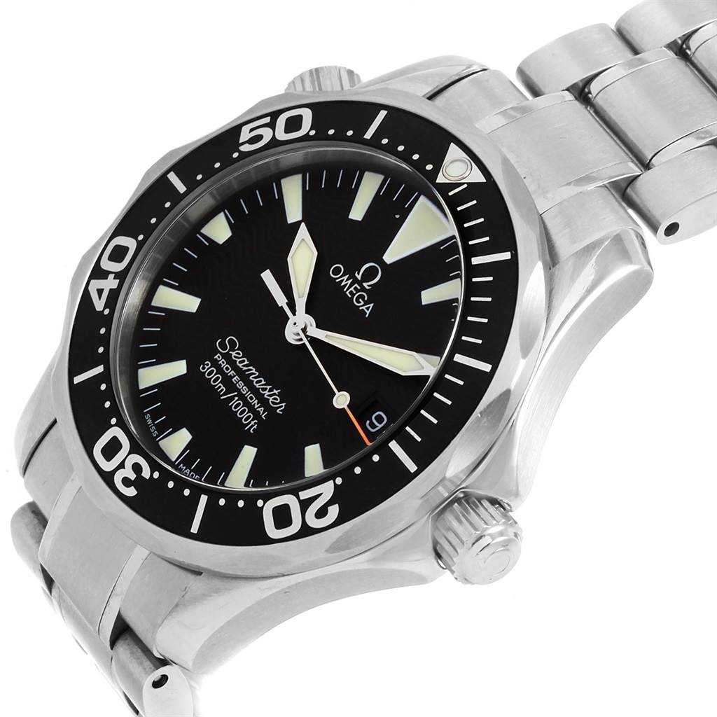 21324 Omega Seamaster Midsize 36 Black Dial Steel Mens Watch 2262.50.00 SwissWatchExpo