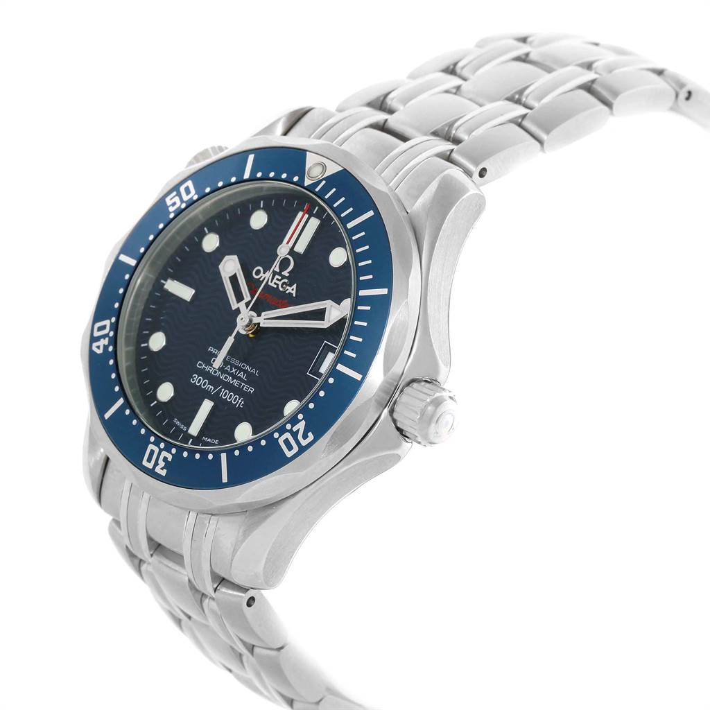 19929 Omega Seamaster Midsize Co-Axial Blue Wave Dial Watch 2222.80.00 SwissWatchExpo