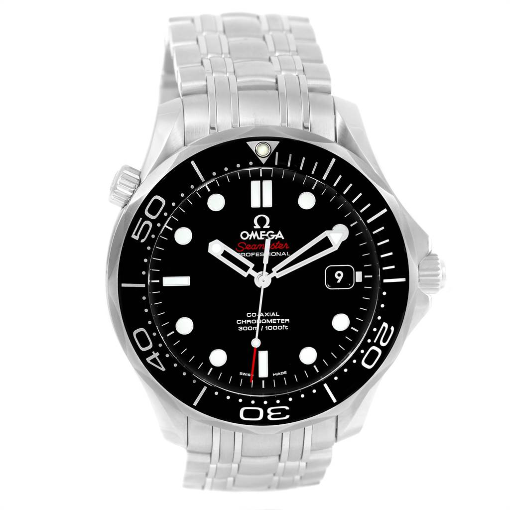 21763 Omega Seamaster 41 Co-Axial Mens Watch 212.30.41.20.01.003 Box Card SwissWatchExpo