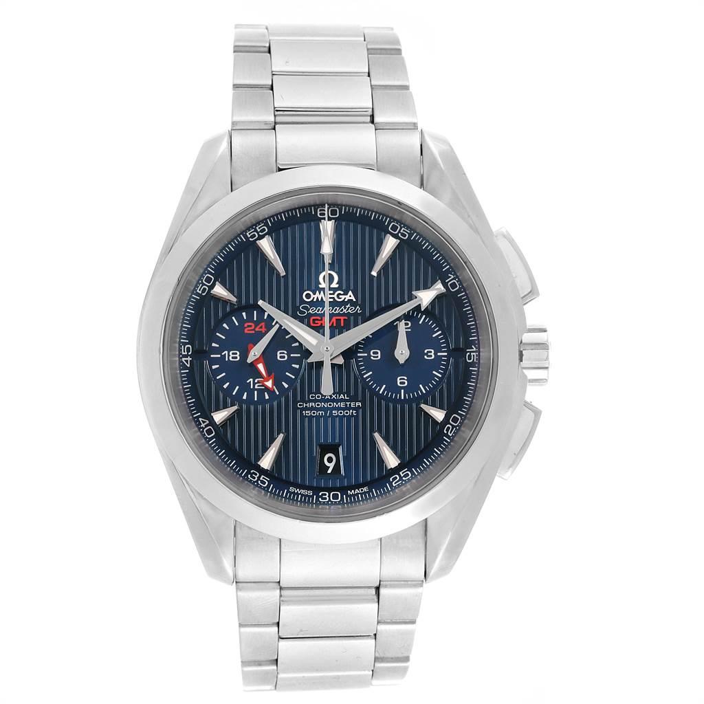 22006 Omega Seamaster Aqua Terra GMT Chronograph Watch 231.10.43.52.03.001 SwissWatchExpo