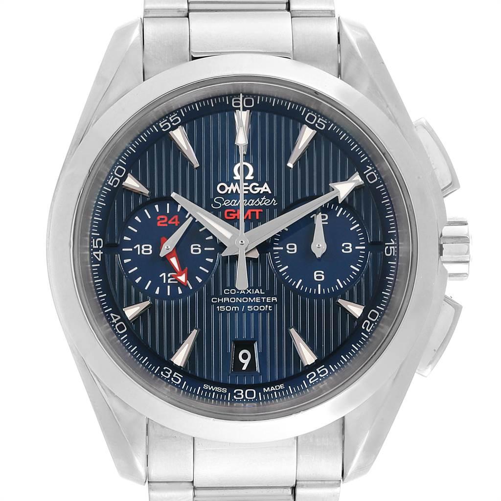 Omega Seamaster Aqua Terra GMT Chronograph Watch 231.10.43.52.03.001 Box Card SwissWatchExpo