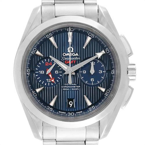Photo of Omega Seamaster Aqua Terra GMT Chronograph Watch 231.10.43.52.03.001 Box Card
