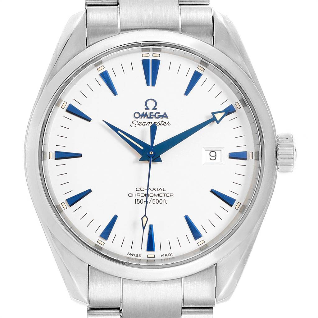 22011 Omega Seamaster Aqua Terra Big Size Steel Mens Watch 2502.33.00 SwissWatchExpo