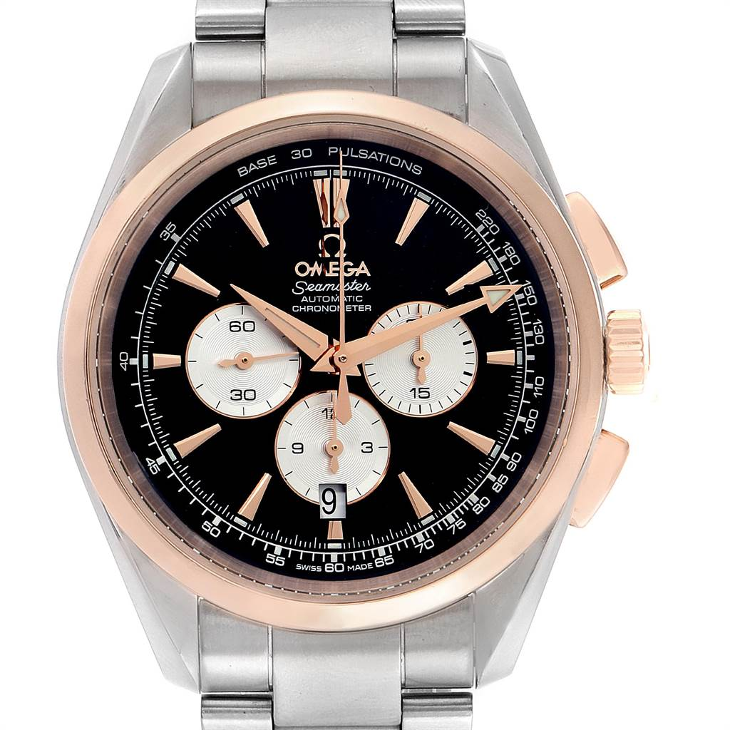Omega Seamaster Aqua Terra Steel Rose Gold Mens Watch 221 20 42 40