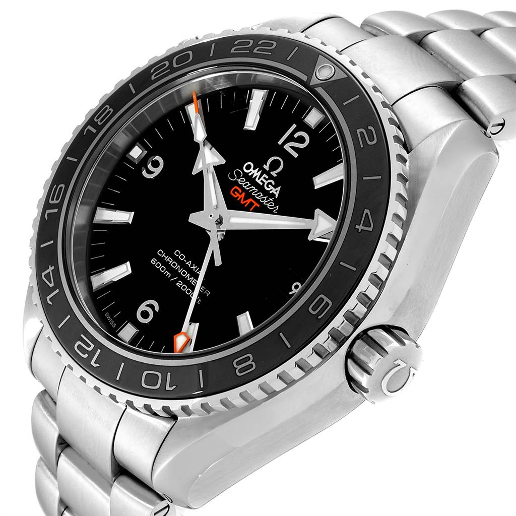 24038 Omega Seamaster Planet Ocean GMT Watch 232.30.44.22.01.001 Box Card SwissWatchExpo