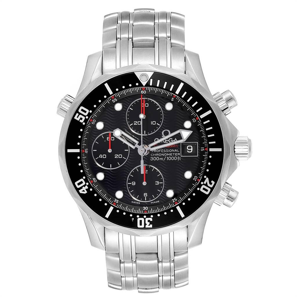 24597 Omega Seamaster 300M Chronograph Black Dial Watch 213.30.42.40.01.001 SwissWatchExpo