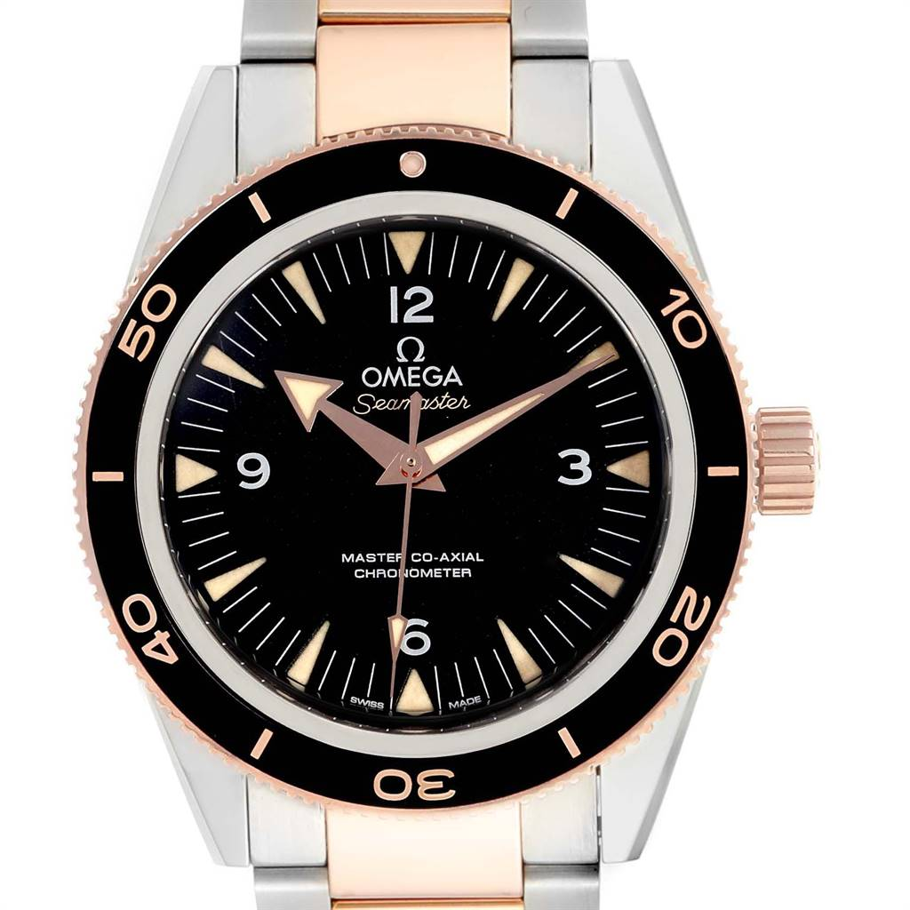 Omega Seamaster 300M Co-Axial Steel Rose Gold Watch 233.20.41.21.01.001