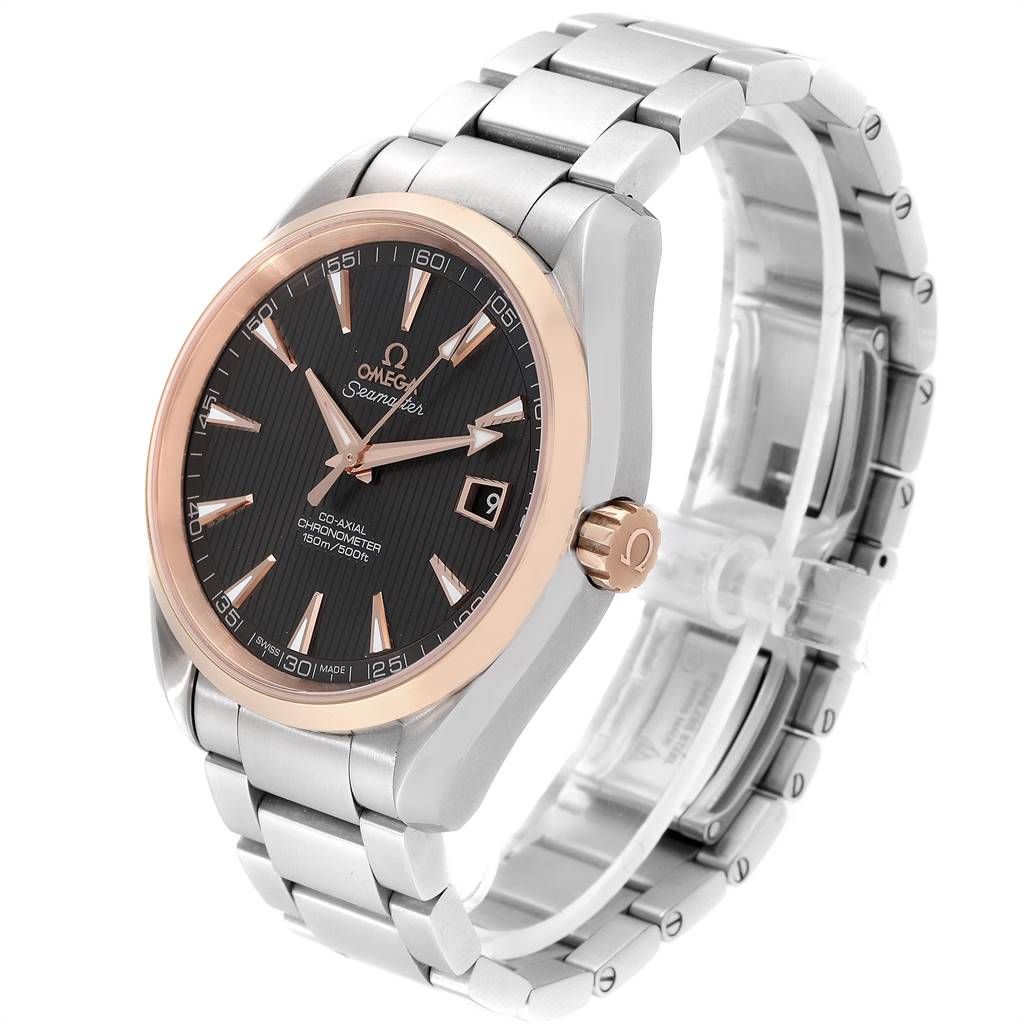 Omega Seamaster Aqua Terra Steel Rose Gold Watch 231.20.42.21.06.002 SwissWatchExpo