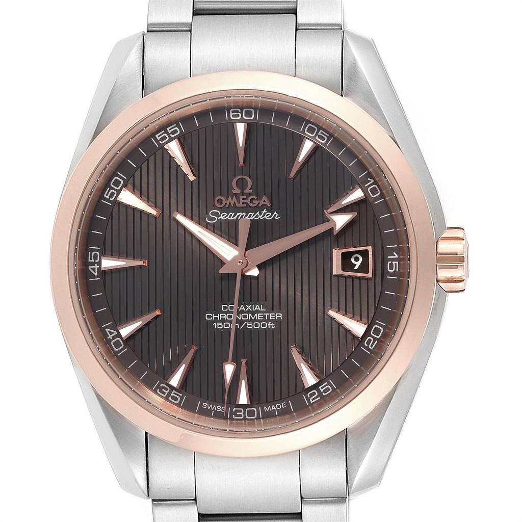 25077 Omega Seamaster Aqua Terra Steel Rose Gold Watch 231.20.42.21.06.002 SwissWatchExpo