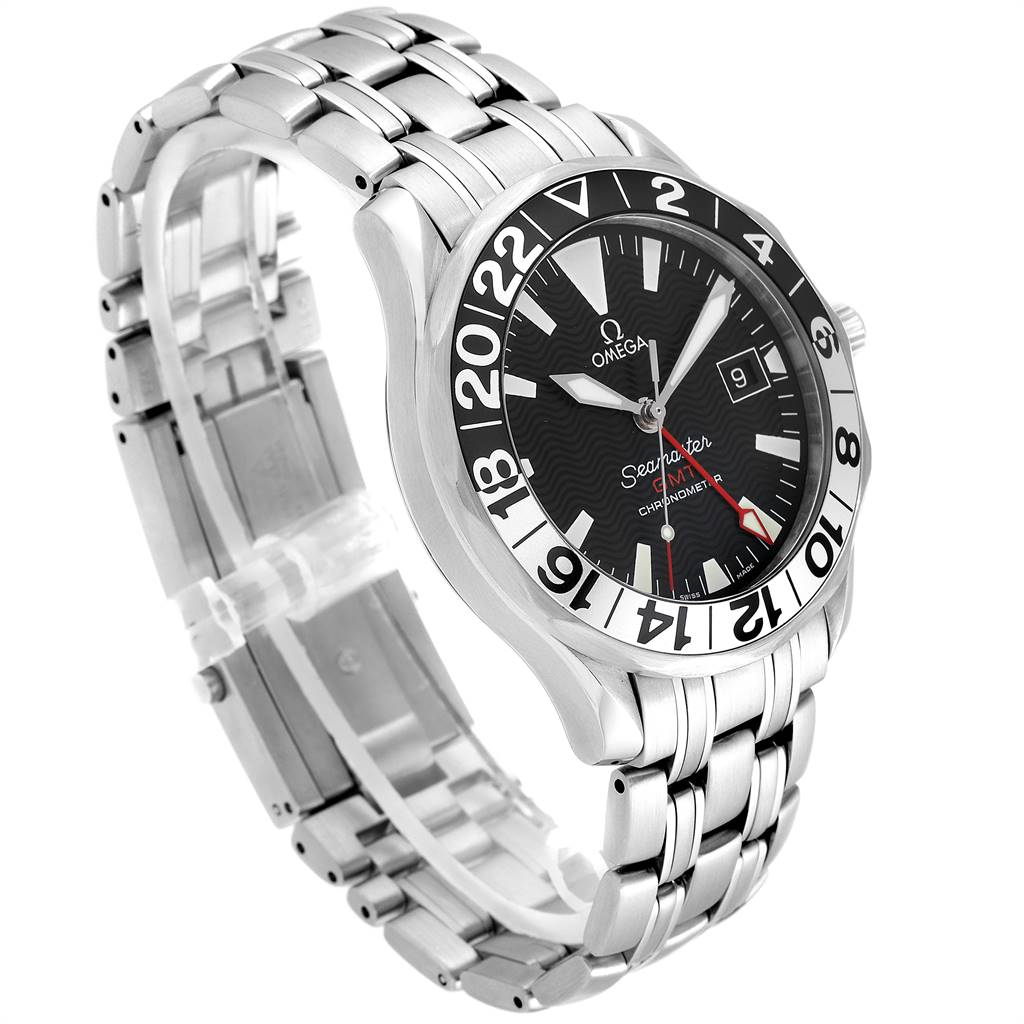 24929 Omega Seamaster GMT 50th Anniversary Steel Mens Watch 2234.50.00 SwissWatchExpo