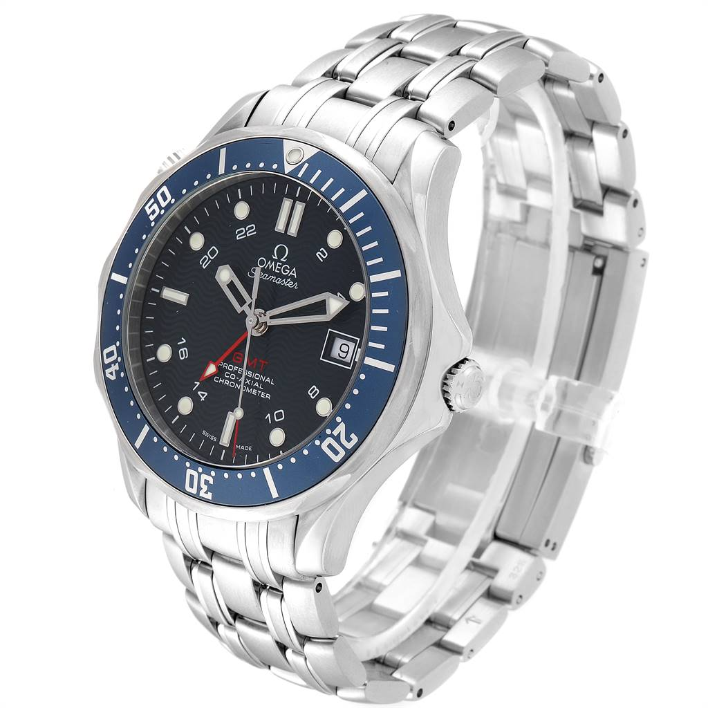 Omega Seamaster Bond 300M GMT Co-Axial Mens Watch 2535.80.00 Box Card SwissWatchExpo