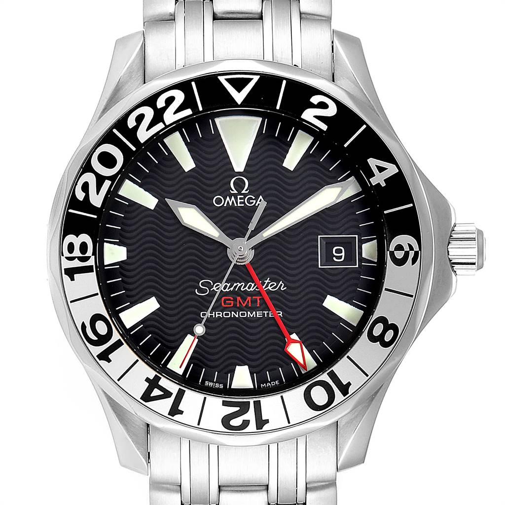 Omega Seamaster GMT 50th Anniversary Steel Mens Watch 2234.50.00 Card