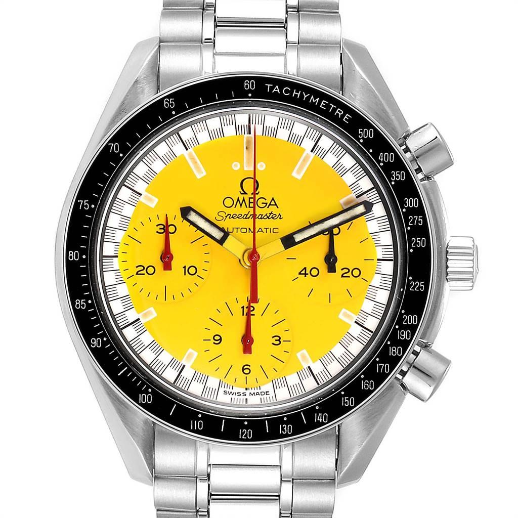 Omega Speedmaster Schumacher Yellow Dial Automatic Mens Watch 3510.80.00