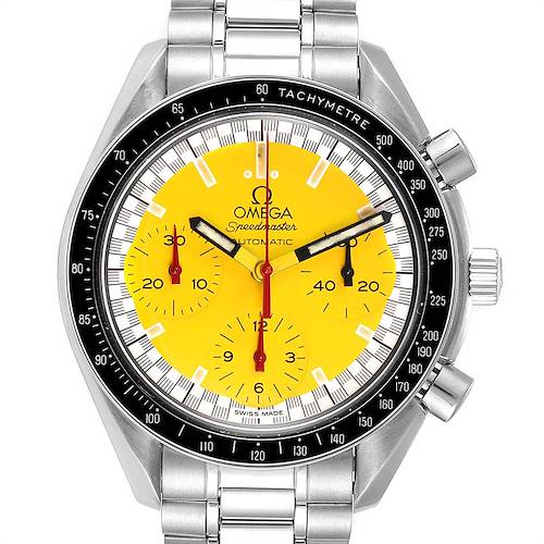 Photo of Omega Speedmaster Schumacher Yellow Dial Automatic Mens Watch 3510.80.00