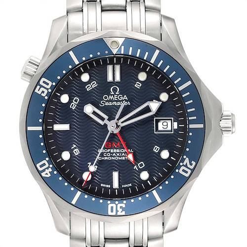Photo of Omega Seamaster Bond 300M GMT Blue Dial Co-Axial Watch 2535.80.00