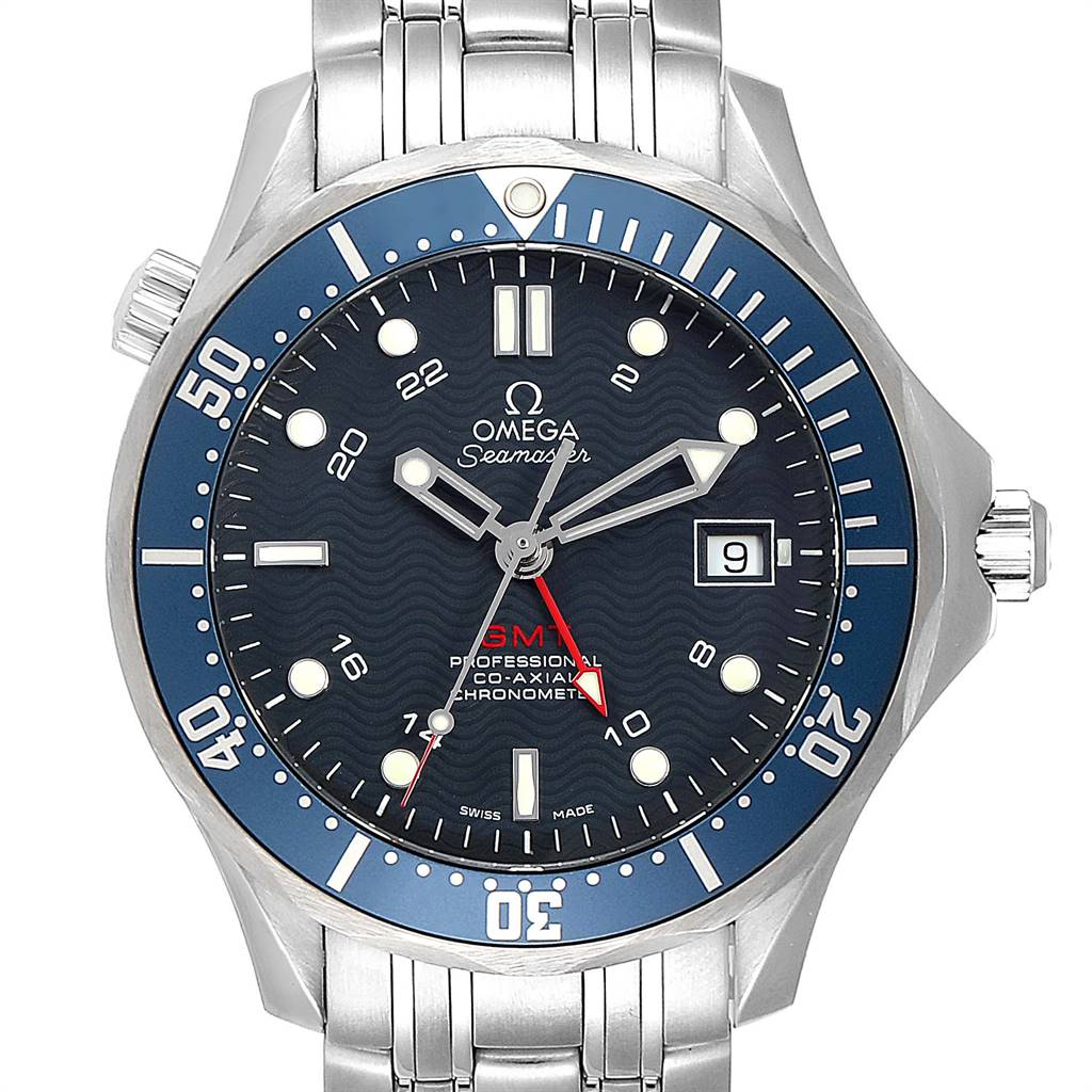 Omega Seamaster Bond 300M GMT Blue Dial Steel Mens Watch 2535.80.00