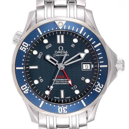 Photo of Omega Seamaster Bond 300M GMT Co-Axial Mens Watch 2535.80.00 Box Card