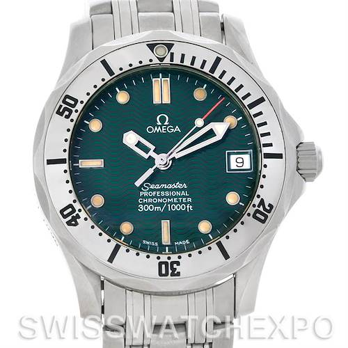 Photo of Omega Seamaster Midsize Jacques Mayol 1996 Green Watch 2553.41.00