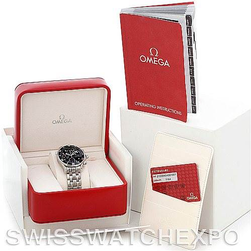 5504 Omega Seamaster Chrono James Bond Watch 21330424001001 SwissWatchExpo