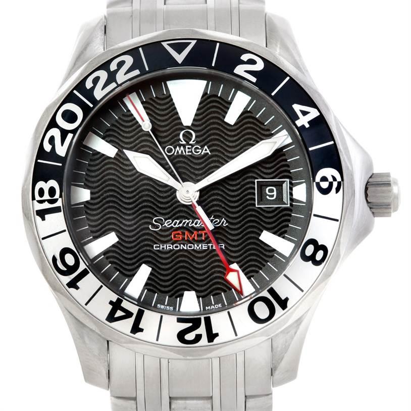 6288 Omega Seamaster GMT Autiomatic Mens Watch 2234.50.00 SwissWatchExpo