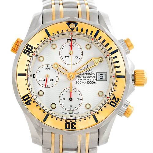 Photo of Omega Seamaster Chronograph Steel Gold Mens Watch 2398.20.00