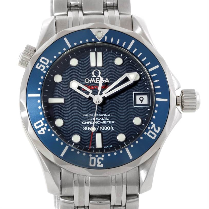 9417 Omega Seamaster 300M Co-Axial James Bond Midsize Watch 2222.80.00 SwissWatchExpo