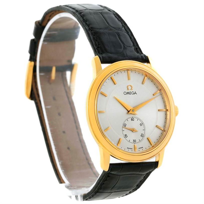 Omega DeVille Prestige 18K Yellow Gold Small Seconds Watch 4620.31 SwissWatchExpo