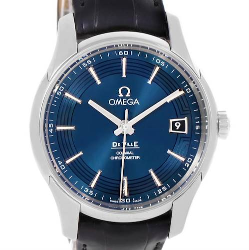 Photo of Omega DeVille Hour Vision Blue Dial Watch 431.33.41.21.03.001 Unworn