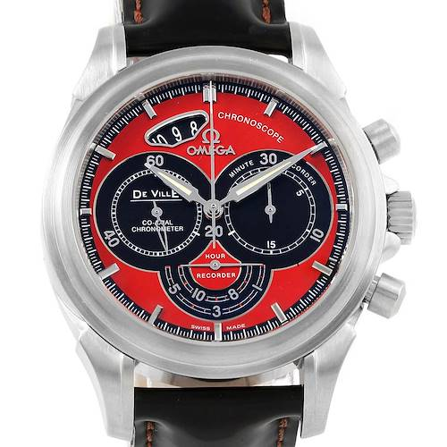 Photo of Omega DeVille Chronoscope Co-Axial Red Dial Mens Watch 4851.61.31