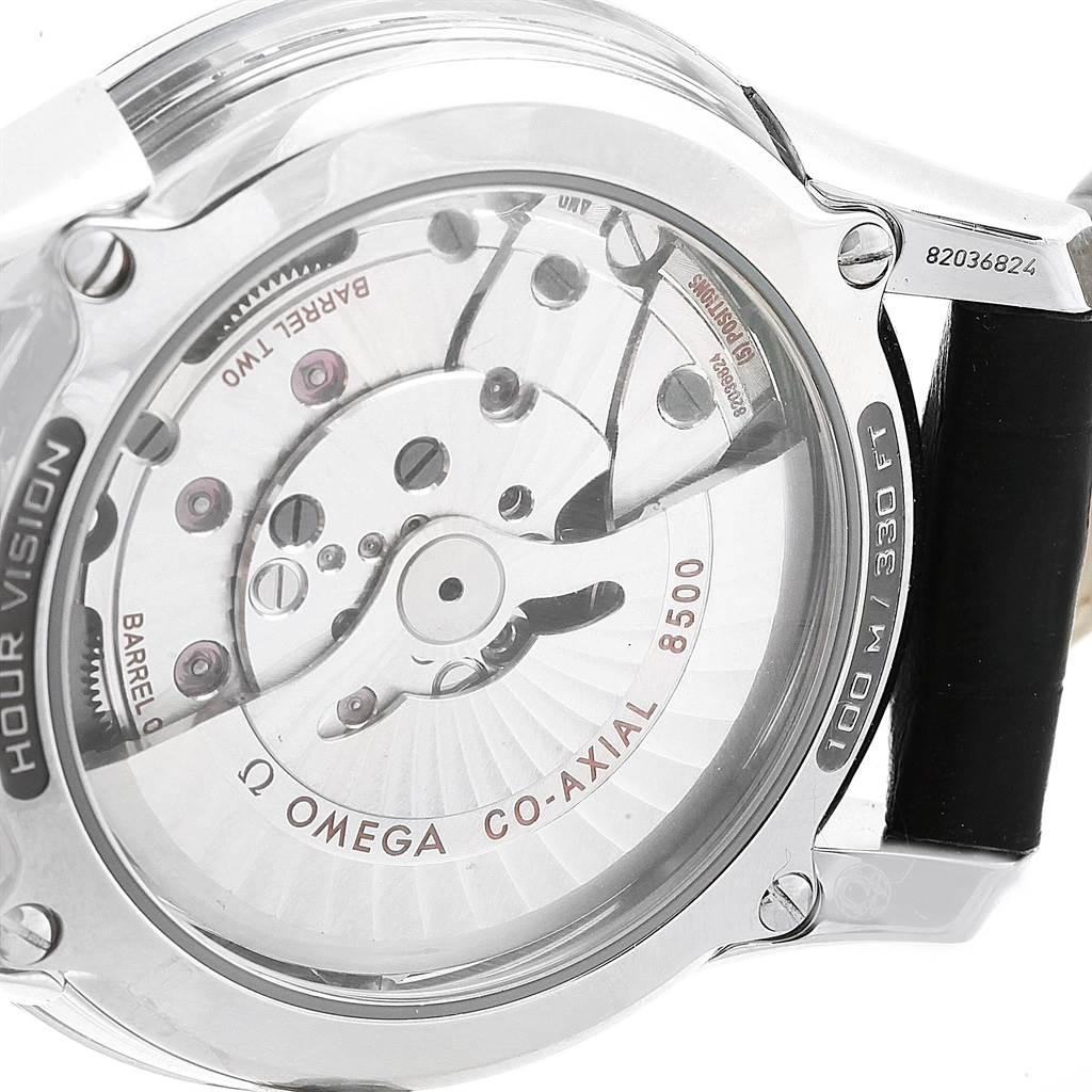 Omega DeVille Hour Vision Black Dial Mens Watch 431.33.41.21.01.001 SwissWatchExpo