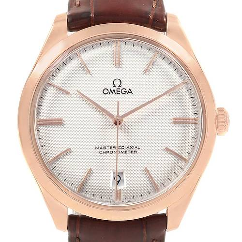 Photo of Omega DeVille Tresor Segna Rose Gold Watch 432.53.40.21.02.002 Box Card