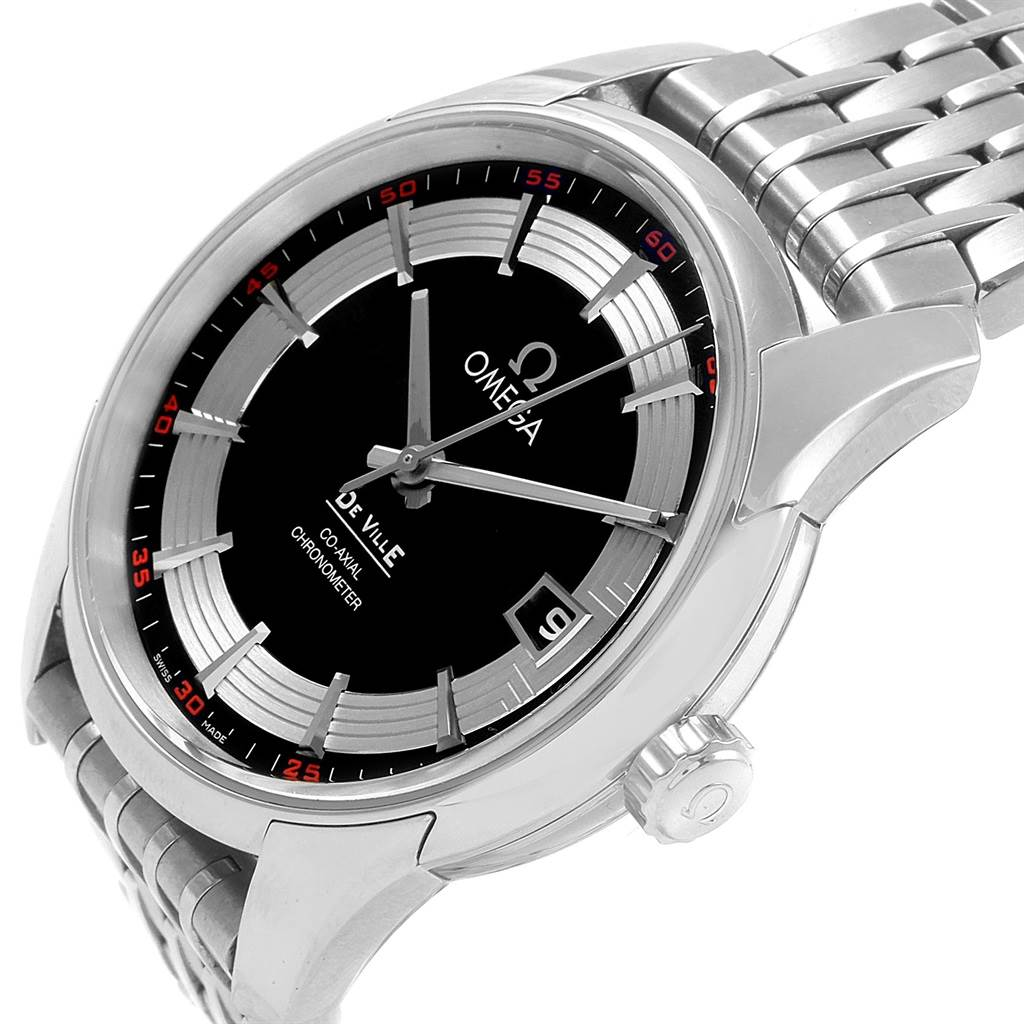 20947 Omega DeVille Hour Vision Mens Watch 431.30.41.21.01.001 Box Card SwissWatchExpo