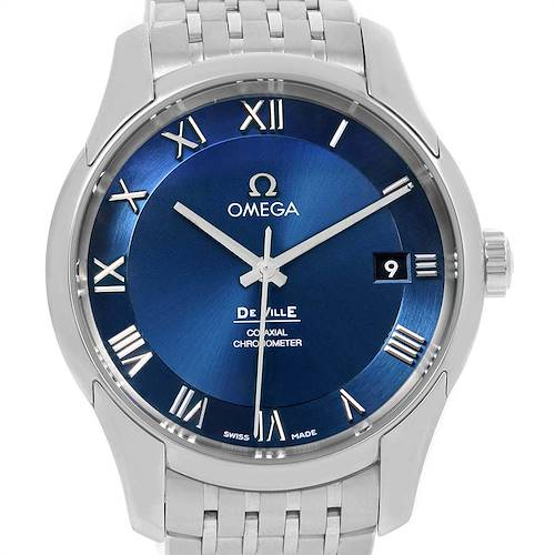 Photo of Omega DeVille Co-Axial 41mm Blue Dial Watch 431.10.41.21.03.001 Unworn