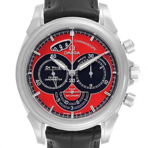 Photo of Omega DeVille Chronoscope Co-Axial Red Dial Chronograph Watch 4851.61.31