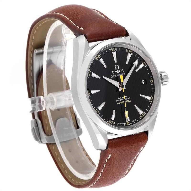 Omega Aqua Terra Co-Axial 5000 Gauss Yellow Hand Watch 231.12.42.21.01.001 SwissWatchExpo