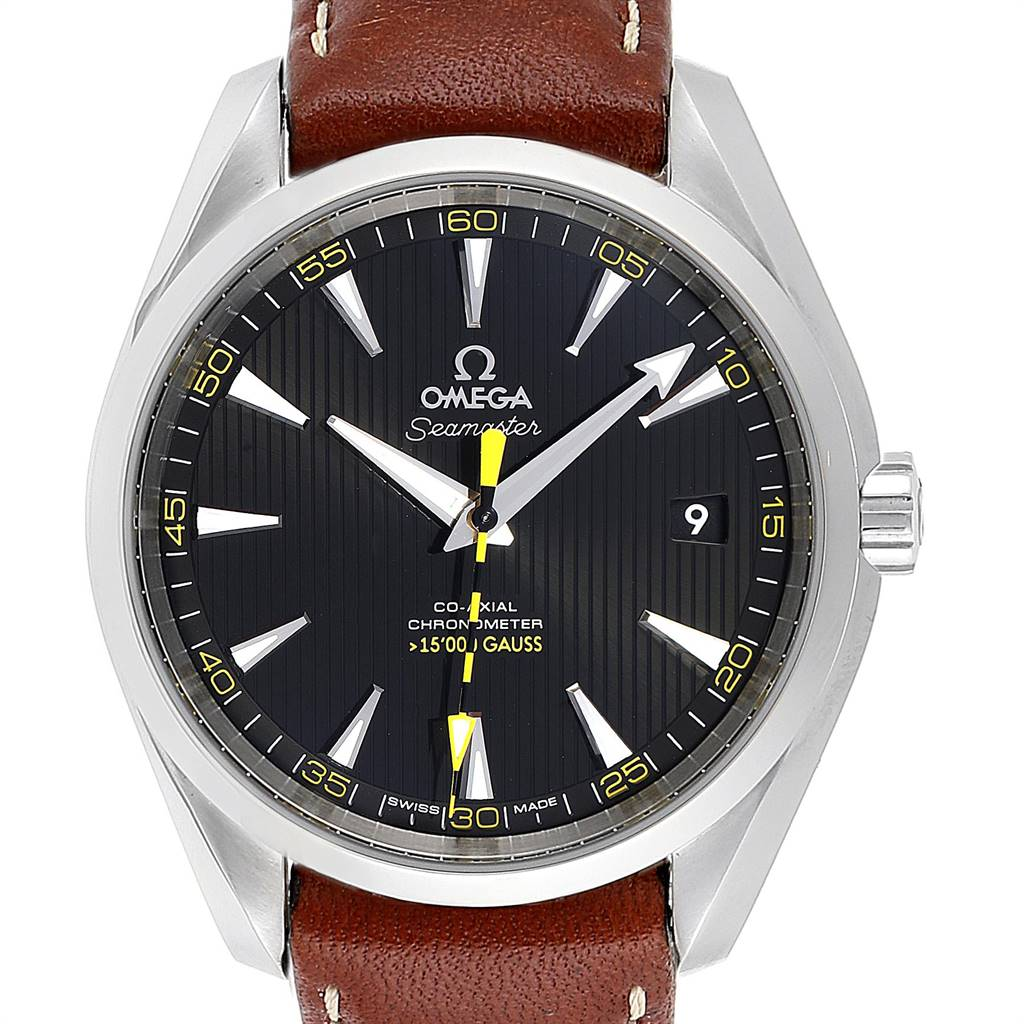 Omega Aqua Terra Co-Axial 5000 Gauss Yellow Hand Watch 231.12.42.21.01.001
