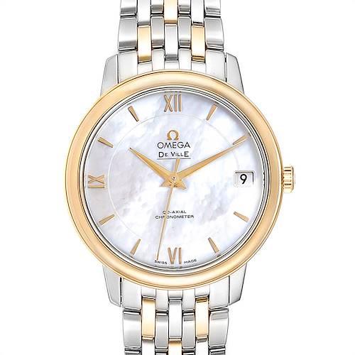 Photo of Omega DeVille Prestige Steel Yellow Gold Men's Watch 424.20.33.20.05.001