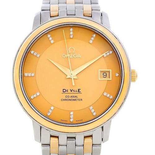 Photo of Omega DeVille Prestige Automatic Diamond Mens Watch 4374.15.00