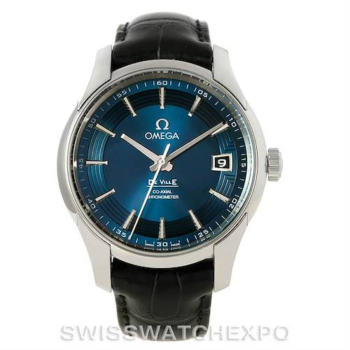 Photo of Omega DeVille Hour Vision Blue Dial Mens Watch 431.33.41.21.03.001