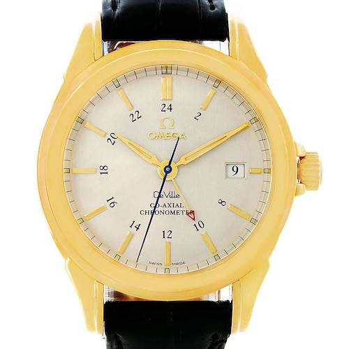 Photo of Omega DeVille Co-Axial GMT 18K Yellow Gold Mens Watch 4633.30.31