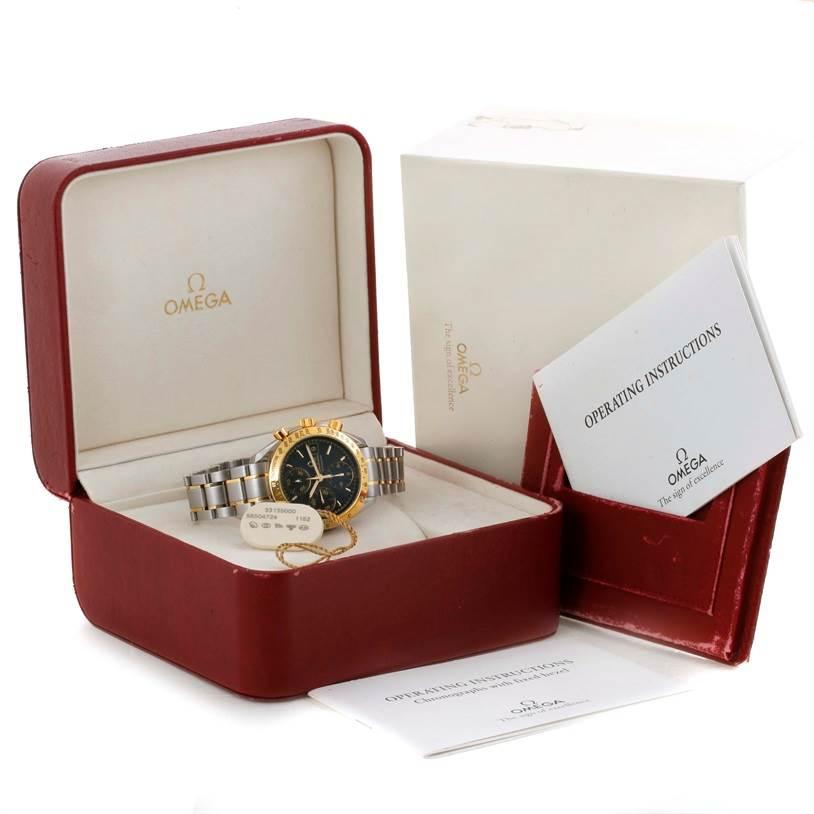 10352 Omega Speedmaster Steel Yellow Gold Automatic Watch 3313.50.00 SwissWatchExpo