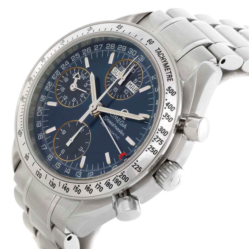 10349 Mens Omega Speedmaster Automatic Day Date Watch 3523.80.00 SwissWatchExpo