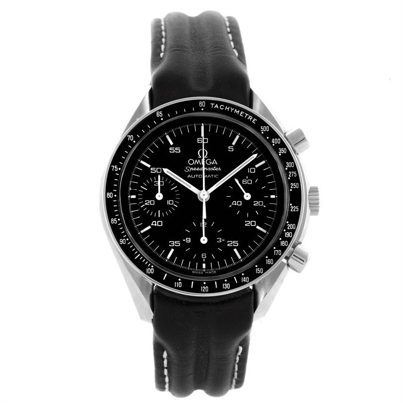 omega speedmaster reduced black strap automatic mens watch. Black Bedroom Furniture Sets. Home Design Ideas