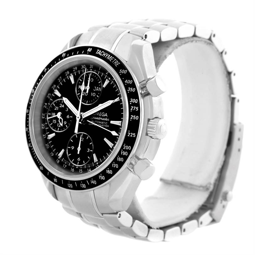 omega speedmaster day date automatic mens watch. Black Bedroom Furniture Sets. Home Design Ideas